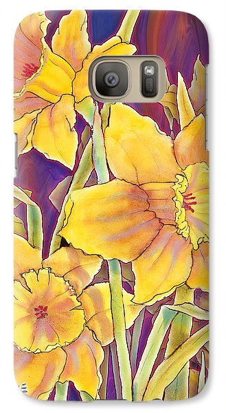 Galaxy Case featuring the mixed media Daffodils by Teresa Ascone