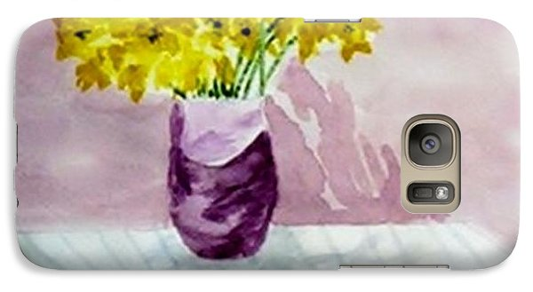 Galaxy Case featuring the painting Daffs by Jamie Frier