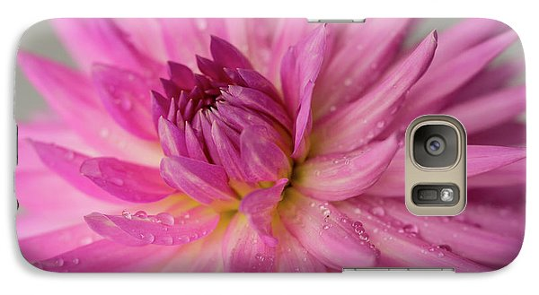 Galaxy Case featuring the photograph Dahlia After The Rain by Mary Jo Allen
