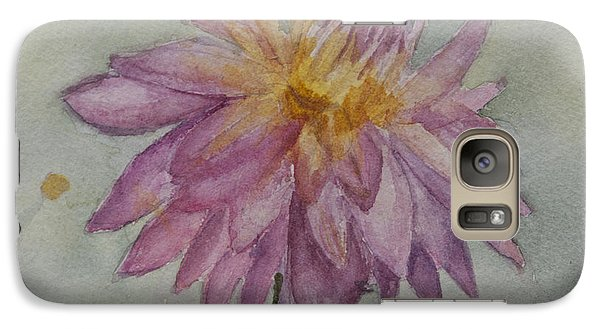 Galaxy Case featuring the painting Dahlia At Eastport Me by Donna Walsh