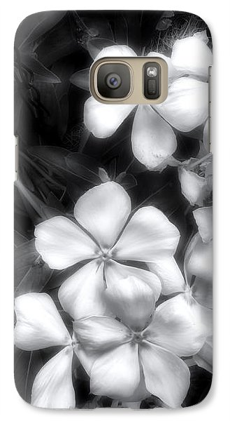 Galaxy Case featuring the photograph Dainty Blooms - Black And White Photograph by Ann Powell