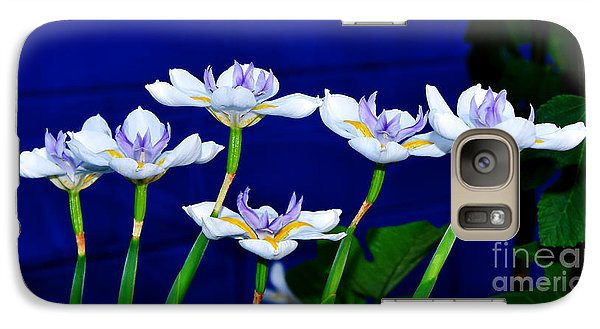 Dainty White Irises All In A Row Galaxy S7 Case by Kaye Menner