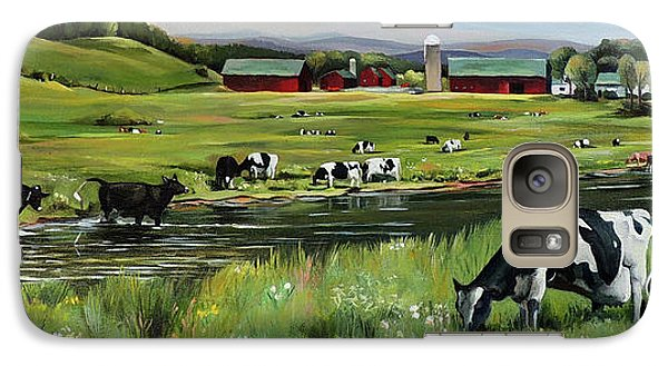 Galaxy Case featuring the painting Dairy Farm Dream by Nancy Griswold