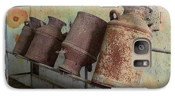 Galaxy Case featuring the photograph Dairy Farm Relics by Scott Kingery