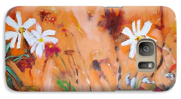 Galaxy S7 Case featuring the painting Daisies Along The Fence by Winsome Gunning