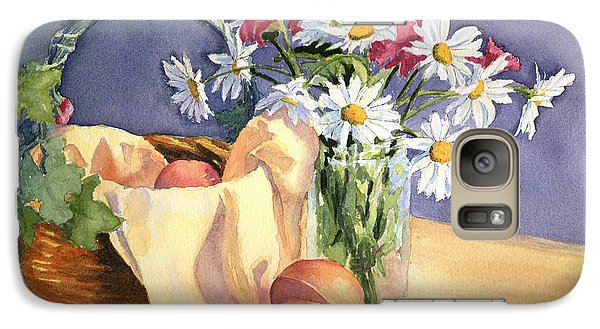 Galaxy Case featuring the painting Daisies And Peaches by Vikki Bouffard