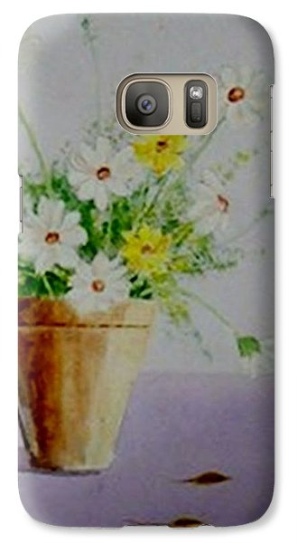 Galaxy Case featuring the painting Daisies In Pot by Jamie Frier
