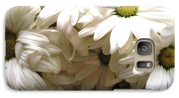 Galaxy Case featuring the photograph Daisies Make Me Smile by Laura  Grisham