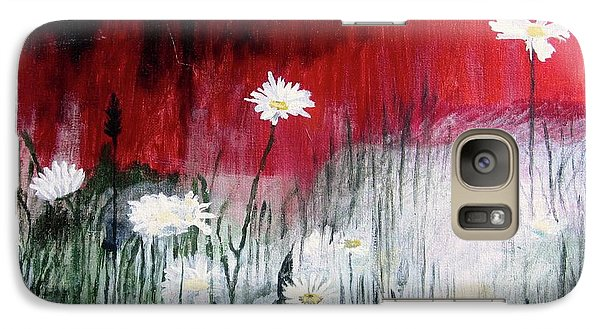 Galaxy Case featuring the painting Daisies by Mary Ellen Frazee