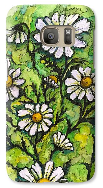 Galaxy Case featuring the painting Daisies by Rae Chichilnitsky