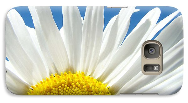 Daisy Art Prints White Daisies Flowers Blue Sky Galaxy S7 Case by Baslee Troutman