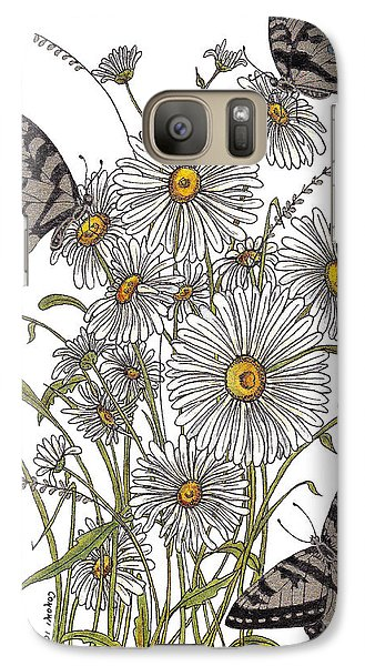 Galaxy Case featuring the painting Daisy At Your Feet by Stanza Widen