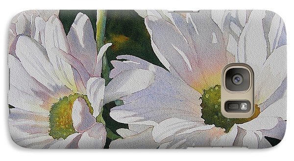 Galaxy Case featuring the painting Daisy Bunch by Judy Mercer