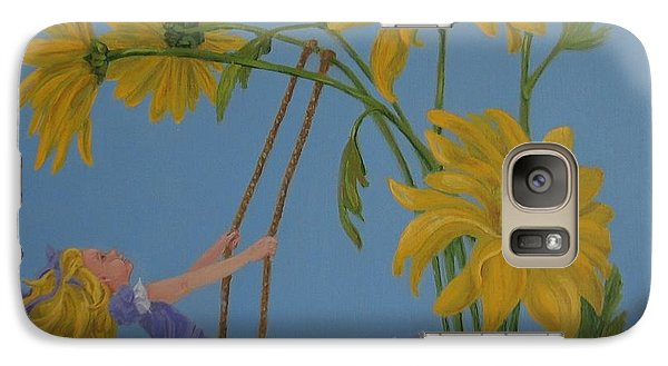 Galaxy Case featuring the painting Daisy Days by Karen Ilari