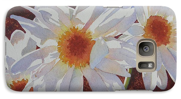 Galaxy Case featuring the painting Daisy Dazzle by Judy Mercer