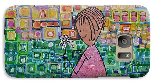 Galaxy Case featuring the painting Daisy by Donna Howard