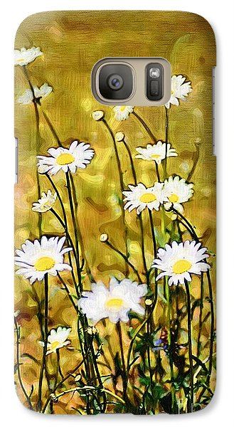 Galaxy Case featuring the photograph Daisy Field by Donna Bentley