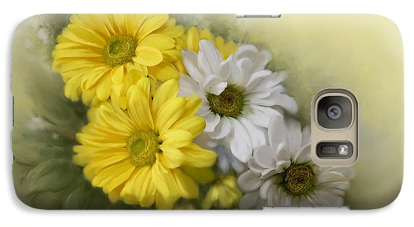 Galaxy Case featuring the painting Daisy Spring Bouquet by Bonnie Willis