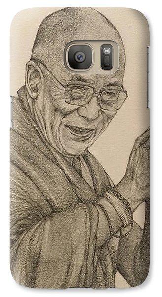 Dalai Lama Tenzin Gyatso Galaxy S7 Case by Kent Chua