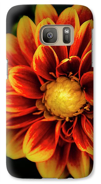 Galaxy Case featuring the photograph Dalaya Shiva Dahlia by Julie Palencia