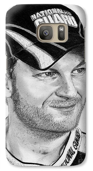 Galaxy Case featuring the drawing Dale Earnhardt Jr In 2009 by J McCombie