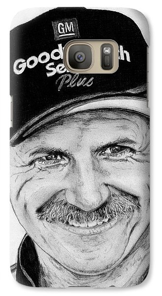 Galaxy Case featuring the drawing Dale Earnhardt Sr In 2001 by J McCombie