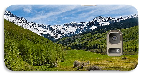 Galaxy Case featuring the photograph Dallas Creek Valley And The Sneffels Range by Jeff Goulden