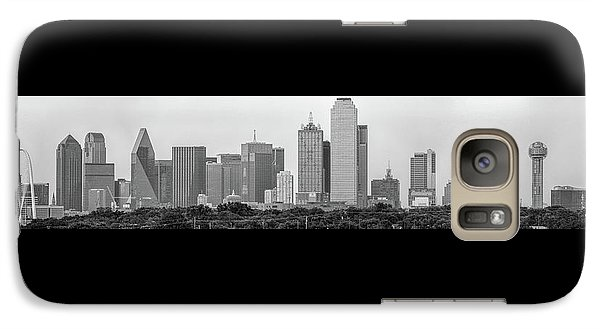 Galaxy Case featuring the photograph Dallas In Black And White by Jonathan Davison