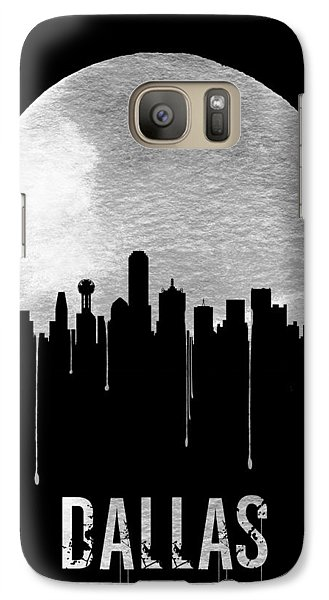 Dallas Skyline Black Galaxy S7 Case by Naxart Studio