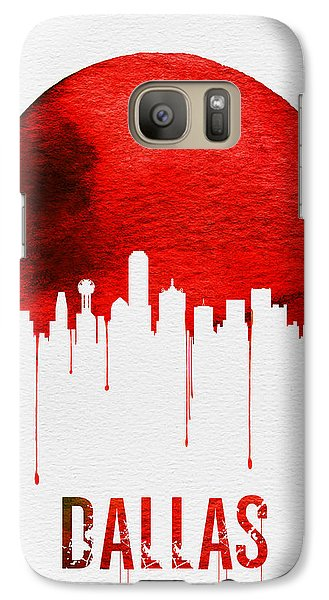 Dallas Skyline Red Galaxy S7 Case by Naxart Studio