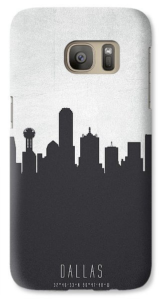Dallas Texas Cityscape 19 Galaxy S7 Case by Aged Pixel