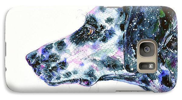 Galaxy Case featuring the painting Dalmatian by Zaira Dzhaubaeva