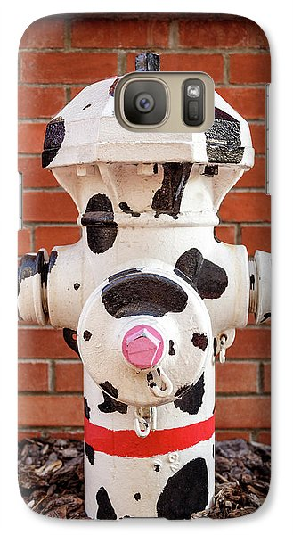 Galaxy Case featuring the photograph Dalmation Hydrant by James Eddy