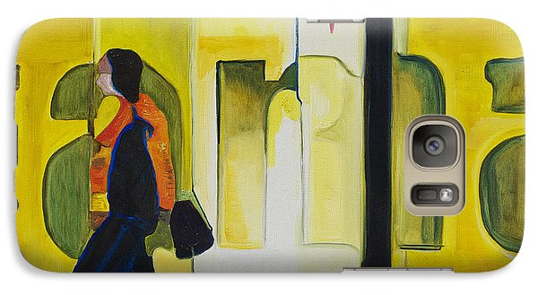 Galaxy Case featuring the painting Dam Shopper by Patricia Arroyo