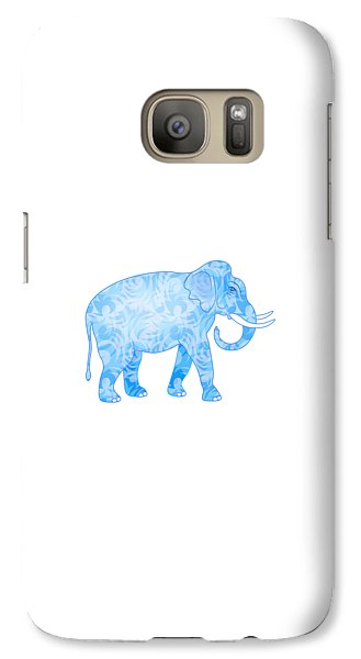 Damask Pattern Elephant Galaxy S7 Case by Antique Images
