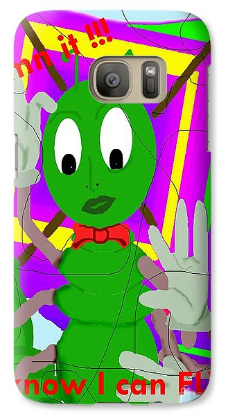 Galaxy Case featuring the painting Damn Cleo by Tbone Oliver