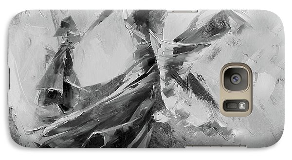 Galaxy Case featuring the painting Dance Flamenco 01 by Gull G