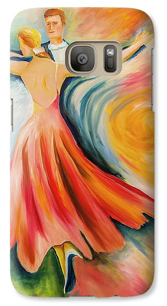 Galaxy Case featuring the painting Dance Me To The End Of Time by Itzhak Richter