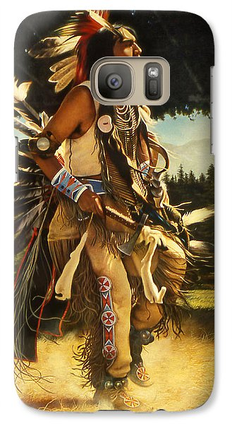Galaxy Case featuring the painting Dance Of His Fathers by Greg Olsen