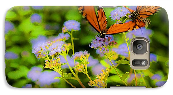 Galaxy Case featuring the photograph Dance Of The Butterflies by Edward Peterson