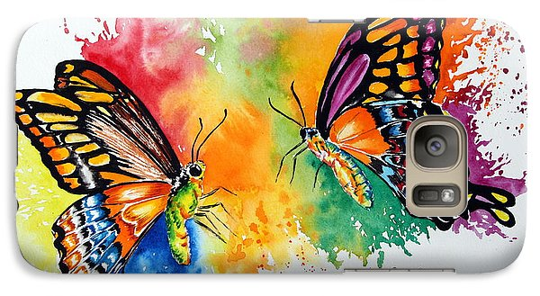 Galaxy Case featuring the painting Dance Of The Butterflies by Maria Barry