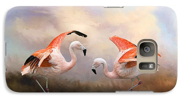 Galaxy Case featuring the photograph Dance Of The Flamingos  by Bonnie Barry