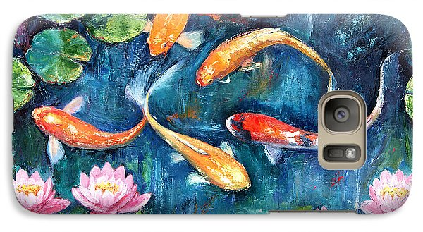 Galaxy Case featuring the painting Dance Of The Koi by Jennifer Beaudet