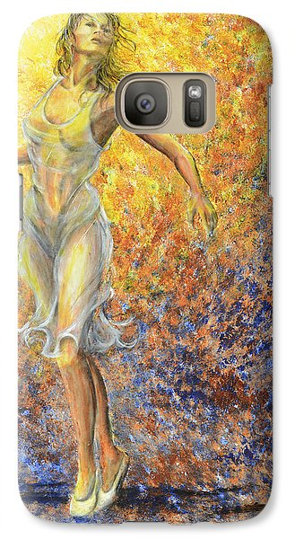 Galaxy Case featuring the painting Dancer Away by Nik Helbig