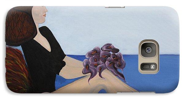 Galaxy Case featuring the painting Dancer With Calla Lillies by Jolanta Anna Karolska