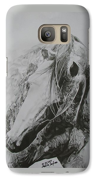 Galaxy Case featuring the drawing Dancing Angel by Melita Safran