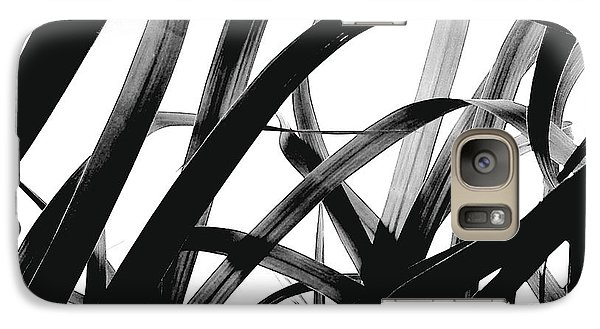 Galaxy Case featuring the photograph Dancing Bamboo Black And White by Rebecca Harman