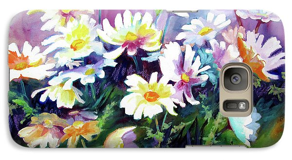 Galaxy Case featuring the painting Dancing Daisies by Kathy Braud