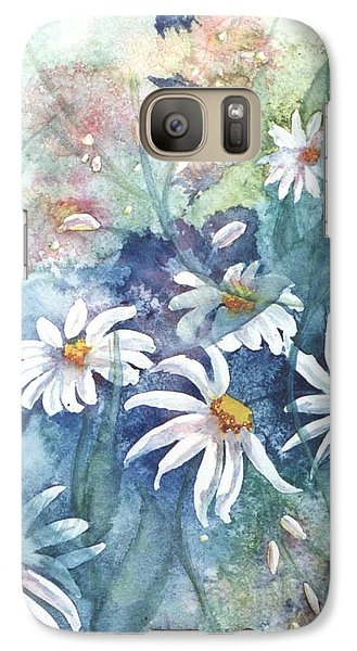 Galaxy Case featuring the painting Dancing Daisies by Renate Nadi Wesley