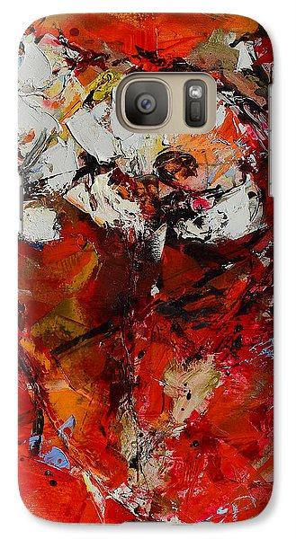 Galaxy Case featuring the painting Dancing Flowers by Elise Palmigiani
